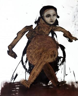 37 - Schnell, Andrea- Isadora Mischtechnik auf Papier, 2000 Rufnummer: 37 Künstler: Andrea Schnell Titel: Isadora Technik: Mischtechnik auf Papier Jahr: 2000 Rufpreis:  200 €