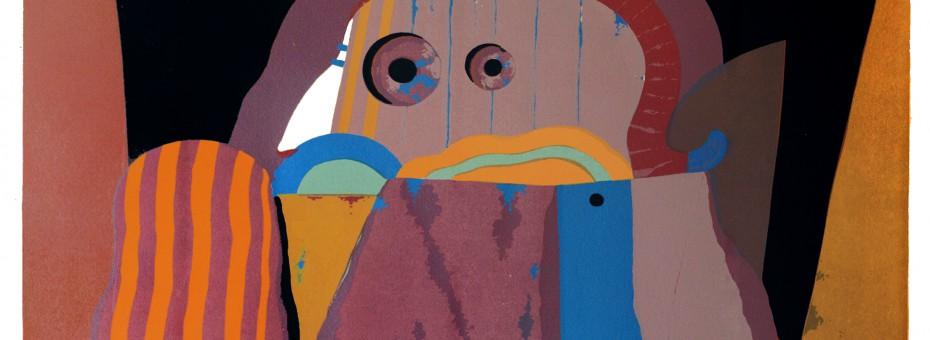 13 - Korab, Karl - Popanz Siebdruck auf Papier, 1971  Rufnummer: 13 Künstler: Karl Korab Titel: Popanz Technik: Siebdruck auf Papier Jahr: 1971 Rufpreis: 200 €