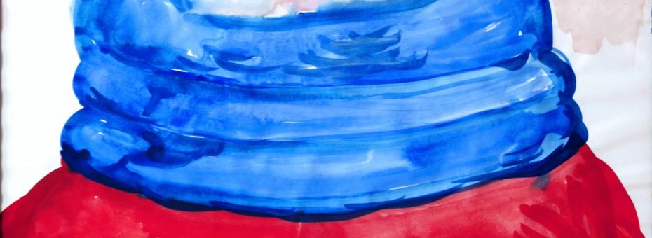 05 - Einem, Caspar -  Amerikanerin No.1 Aquarell auf Papier  Rufnummer: 05 Künstler: Caspar Einem Titel: Amerikanerin No.1 Technik: Aquarell auf Papier Rufpreis: 200 €