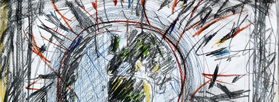 25 - Notto - Jahreswechsel Bleistift auf Papier, 2000  Rufnummer: 25 Künstler: Notto Titel: Jahreswechsel Technik: Bleistift auf Papier Jahr: 2000 Rufpreis:  150 €