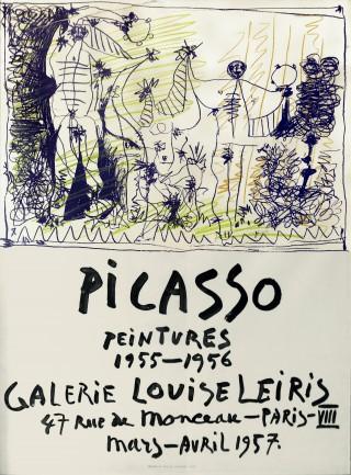 31 - Picasso, Pablo - Peintures 1955-1956 Plakat, 1957 Rufnummer: 31 Künstler: Pablo Picasso Titel: Peintures 1955-1956 Plakat Jahr: 1957 Rufpreis:  200 €