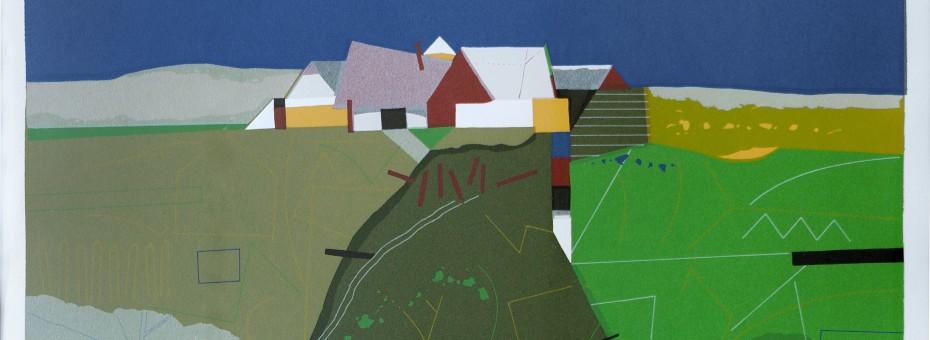 16 - Korab, Karl - Dorf Siebdruck auf Papier, 1995  Rufnummer: 16 Künstler: Karl Korab Titel: Dorf Technik: Siebdruck auf Papier Jahr: 1995 Rufpreis: 200 €