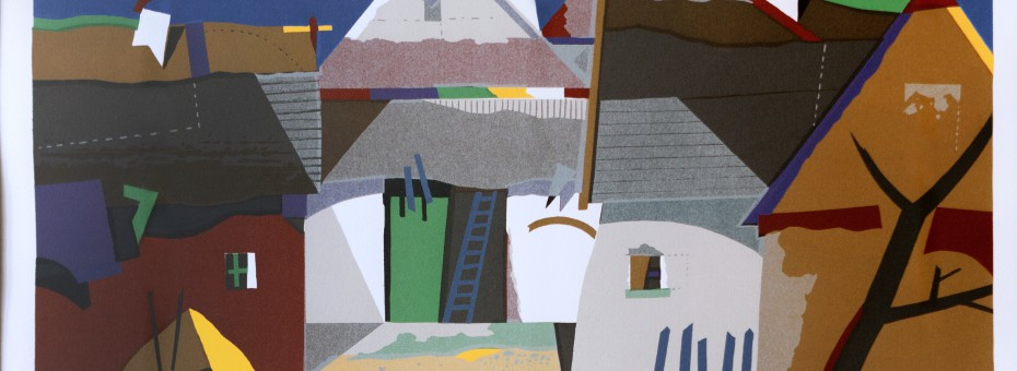 15 - Korab, Karl - Dorf Siebdruck auf Papier, 1994  Rufnummer: 15 Künstler: Karl Korab Titel: Dorf Technik: Siebdruck auf Papier Jahr: 1994 Rufpreis: 200 €