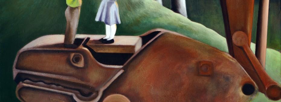 19 - Langmann, Ana - Lass die Räuber Öl auf Leinwand  Rufnummer: 19 Künstler: Ana Langmann Titel: Lass die Räuber Technik: Öl auf Leinwand Rufpreis: 350 €