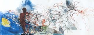 17 - Krumpel, Helmut - Angst vor der Gewalt Tempera auf Papier, 1997 Rufnummer: 17 Künstler: Helmut Krumpel Titel: Angst vor der Gewalt Technik: Tempera auf Papier Jahr: 1997 Rufpreis: 200 €