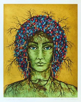 43 - Virant, Aino - Kopf Probedruck auf Papier Rufnummer: 43 Künstler: Aino Virant Titel: Kopf Probedruck auf Papier Rufpreis:  80 €