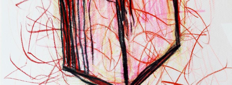 27 - Notto - Rosa Würfel Mischtechnik auf Papier  Rufnummer: 27 Künstler: Notto Titel: Rosa Würfel Technik: Mischtechnik auf Papier Jahr: 2004 Rufpreis:  200 €